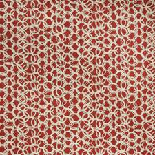 Coral Geometric Drapery and Upholstery Fabric by Fabricut