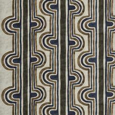 Royal Olive Geometric Drapery and Upholstery Fabric by S. Harris
