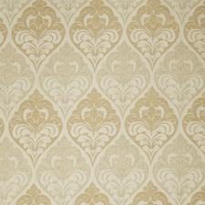 Wheat Damask Drapery and Upholstery Fabric by Fabricut