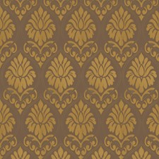 Olive Damask Drapery and Upholstery Fabric by Fabricut