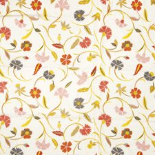 White and Bright Floral Drapery and Upholstery Fabric by Fabricut