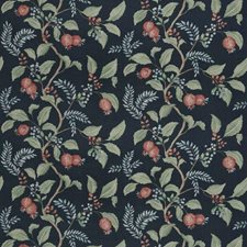 Indigo Floral Drapery and Upholstery Fabric by Fabricut