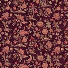 Plum Animal Drapery and Upholstery Fabric by Vervain