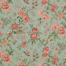 Turquoise Animal Drapery and Upholstery Fabric by Vervain
