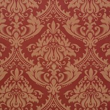 Raspberry Damask Drapery and Upholstery Fabric by Vervain