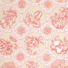Candyapple Floral Drapery and Upholstery Fabric by Vervain