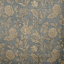 Slate Floral Drapery and Upholstery Fabric by Vervain