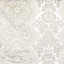 Silver Floral Drapery and Upholstery Fabric by Vervain