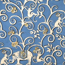 Capri Animal Drapery and Upholstery Fabric by Vervain