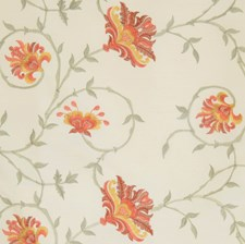 Bone Embroidery Drapery and Upholstery Fabric by Trend