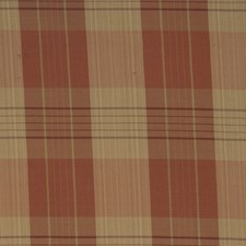 Terra Cotta Check Drapery and Upholstery Fabric by Trend