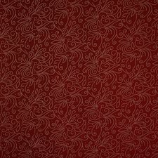 Cranberry Floral Drapery and Upholstery Fabric by Trend
