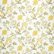 Lemon Zest Jacobean Drapery and Upholstery Fabric by Trend