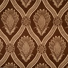 Coffee Print Pattern Drapery and Upholstery Fabric by Trend