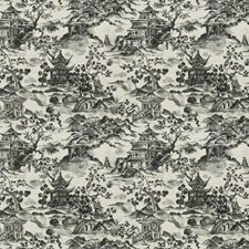 Graphite Asian Drapery and Upholstery Fabric by Trend