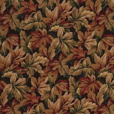 Midnight Botanical Foliage Drapery and Upholstery Fabric by RM Coco