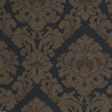 Ebony Damask Drapery and Upholstery Fabric by Fabricut