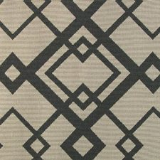 Black Temple Drapery and Upholstery Fabric by B. Berger