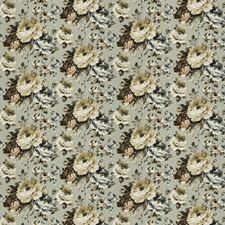 Winter Floral Drapery and Upholstery Fabric by S. Harris