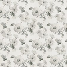 Slate Floral Drapery and Upholstery Fabric by Fabricut