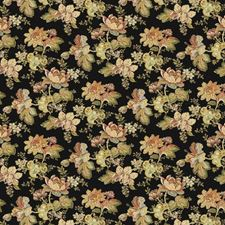Noir Floral Drapery and Upholstery Fabric by Trend