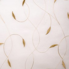 Tan Embroidery Drapery and Upholstery Fabric by Fabricut
