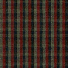 Black/Burgundy/Red Check Drapery and Upholstery Fabric by Kravet