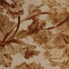 Greige Floral Large Drapery and Upholstery Fabric by RM Coco