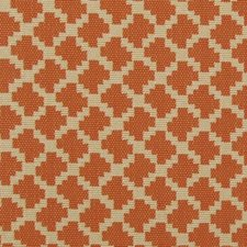 Orange Geometric Drapery and Upholstery Fabric by Duralee