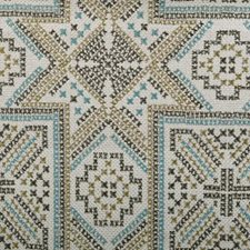 Blue/Green Diamond Drapery and Upholstery Fabric by Duralee