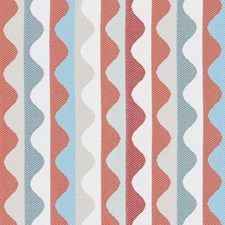Papaya Stripe Drapery and Upholstery Fabric by Duralee