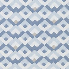 Natural/Blue Diamond Drapery and Upholstery Fabric by Duralee