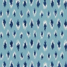 Turquoise Abstract Drapery and Upholstery Fabric by Duralee