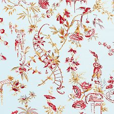 Aquamarine Drapery and Upholstery Fabric by Scalamandre