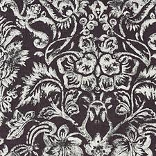Graphite/Silver Print Drapery and Upholstery Fabric by Scalamandre
