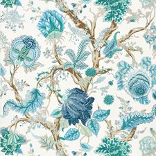 Peacock/Emerald Drapery and Upholstery Fabric by Schumacher