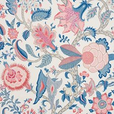 Rose/Delft Drapery and Upholstery Fabric by Schumacher