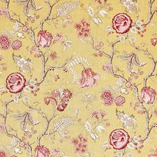 Ochre Drapery and Upholstery Fabric by Schumacher