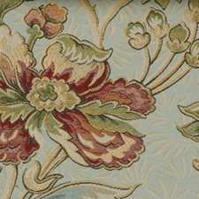 Mint/red Drapery and Upholstery Fabric by Highland Court