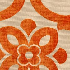 Orange Drapery and Upholstery Fabric by Highland Court