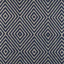 Indigo Diamond Drapery and Upholstery Fabric by Highland Court