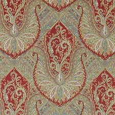Red Paisley Drapery and Upholstery Fabric by Highland Court
