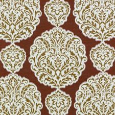 Red Damask Drapery and Upholstery Fabric by Duralee