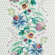 Peacock Floral Large Drapery and Upholstery Fabric by Duralee
