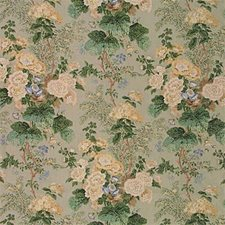Celadon Print Drapery and Upholstery Fabric by Lee Jofa