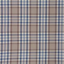 Blue/Taupe Plaid Drapery and Upholstery Fabric by Lee Jofa
