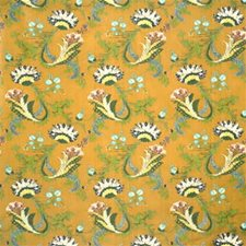 Gold Print Drapery and Upholstery Fabric by Lee Jofa