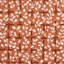 Orange Print Drapery and Upholstery Fabric by Lee Jofa