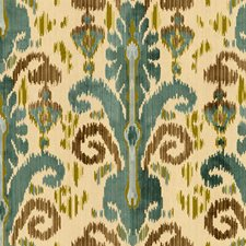 Teal Ikat Drapery and Upholstery Fabric by Lee Jofa