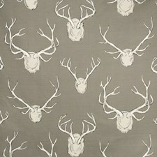 Grey Animal Drapery and Upholstery Fabric by Lee Jofa